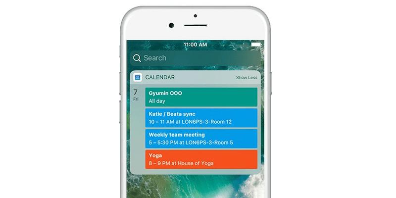 Google Calendar for iOS adds Today Widget