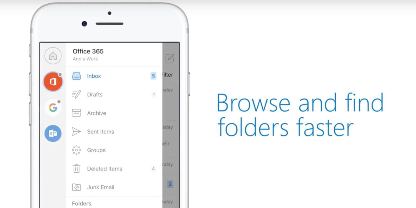 Outlook for iOS updated with redesigned navigation, conversations