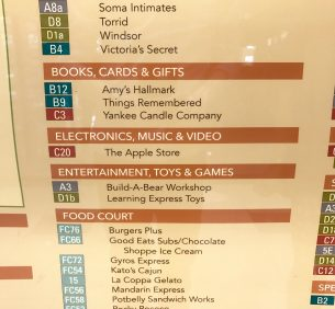 West Towne Mall directory.