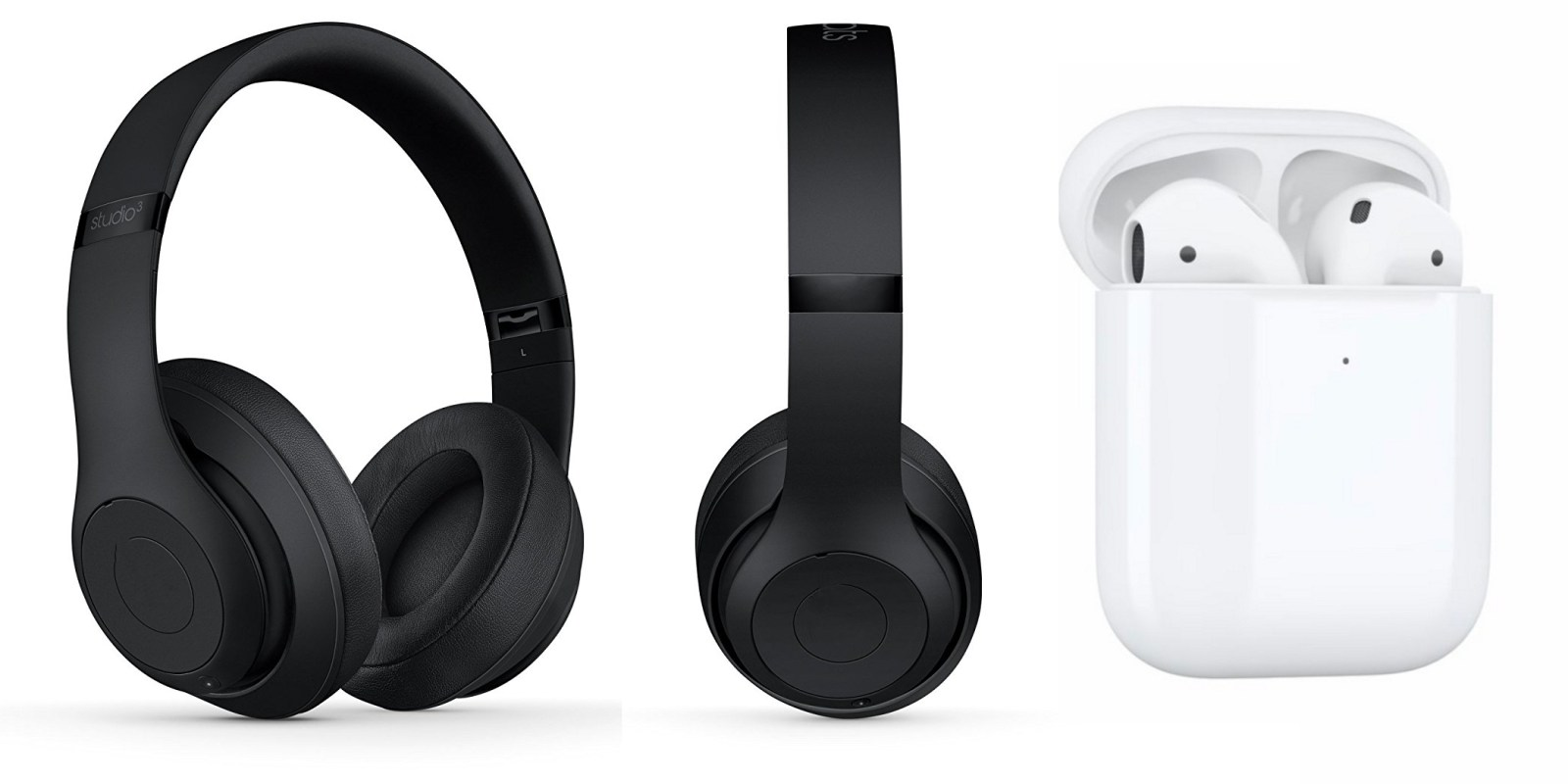 Beats Studio 3 y Apple AirPods