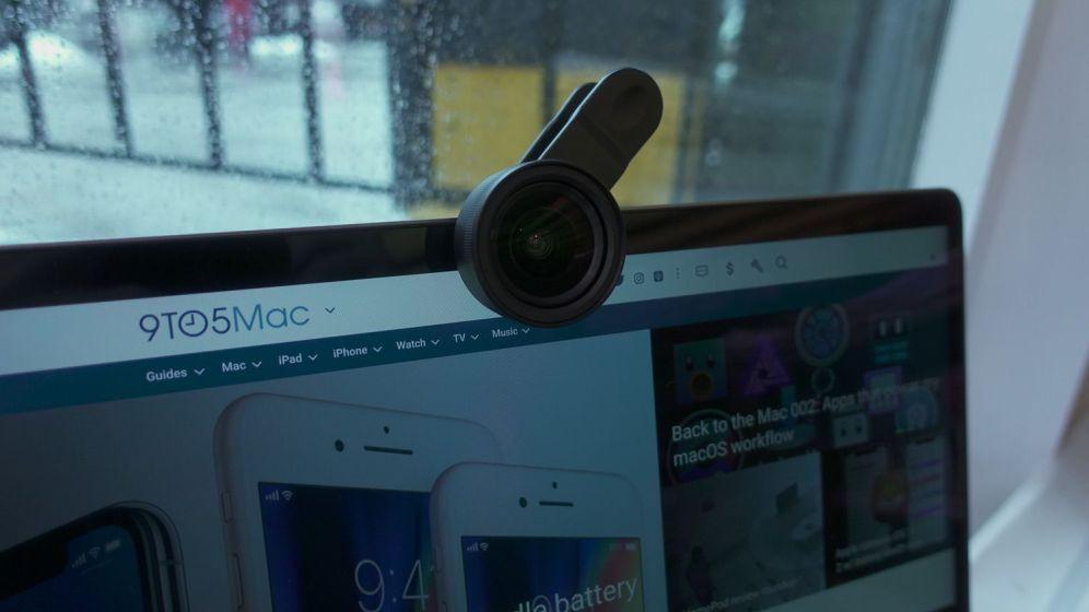 Sandmarc iPhone X Wide Lens on MacBook Pro