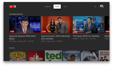 youtube tv apple tv