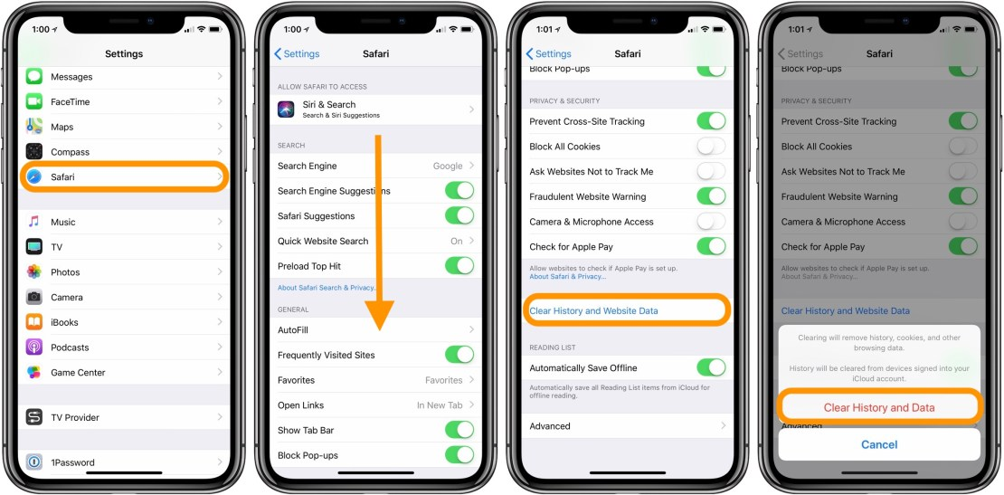 How to clear cache on iPhone and iPad and other apps
