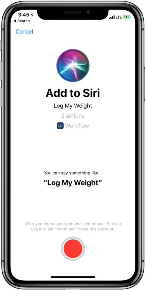 iOS 12 Add to Siri