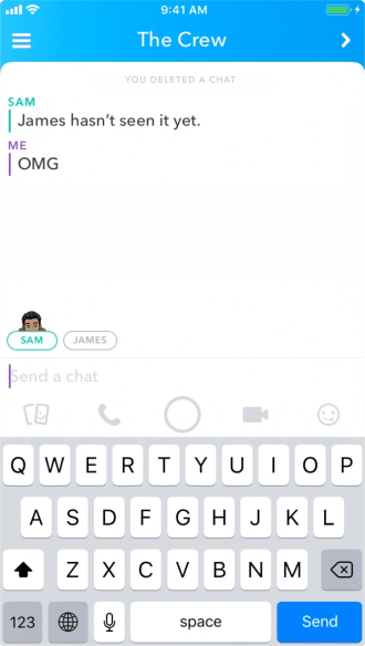 Snapchat Delete Messages in Chat 2