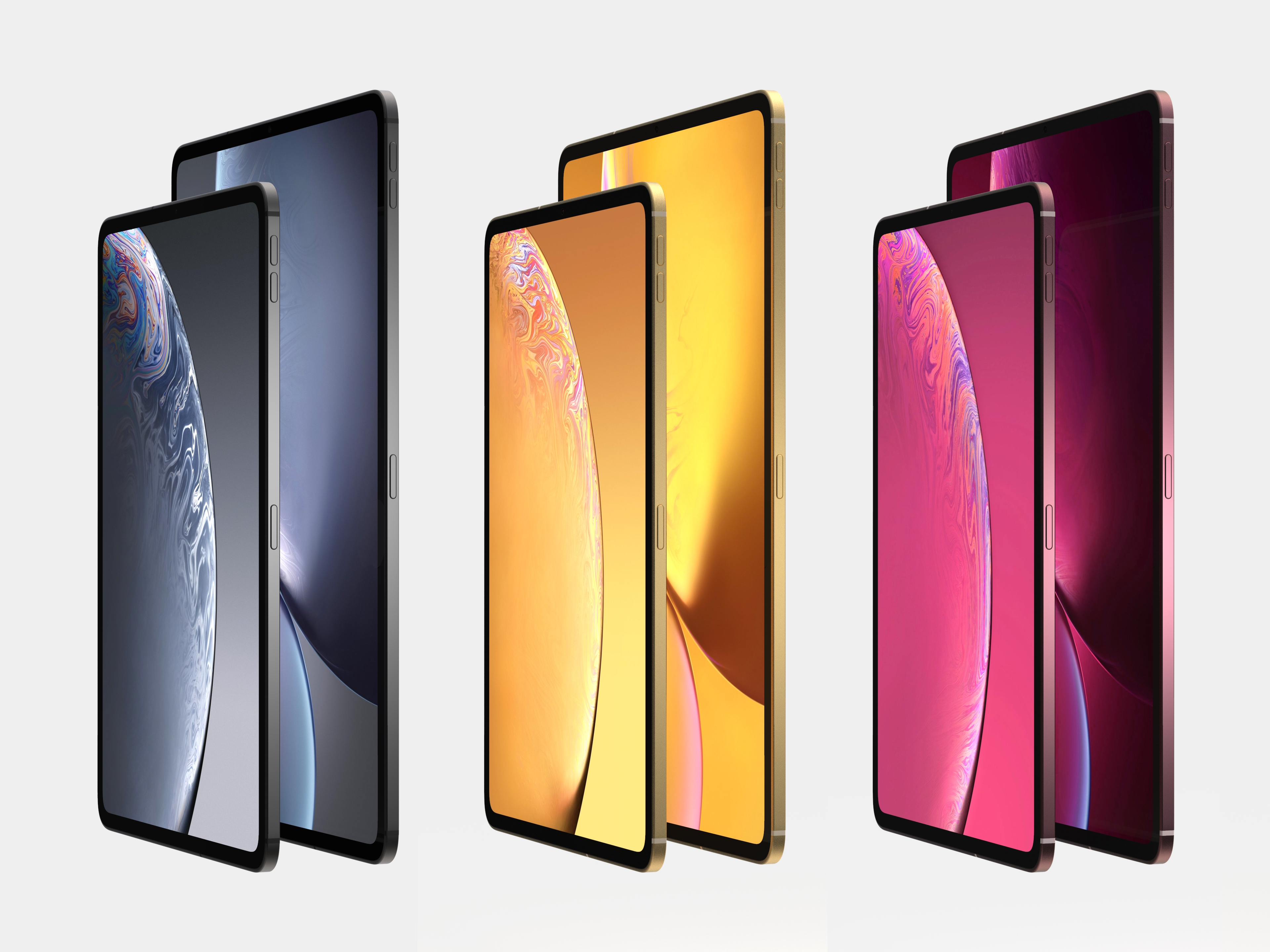 2018 ipad pro latest renders ahead of apple 39 s launch. Black Bedroom Furniture Sets. Home Design Ideas