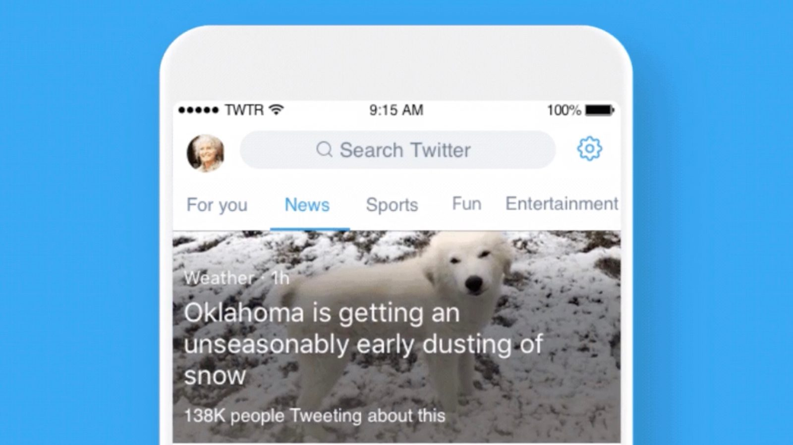 Twitter Search Interface Adds New Section-based Design
