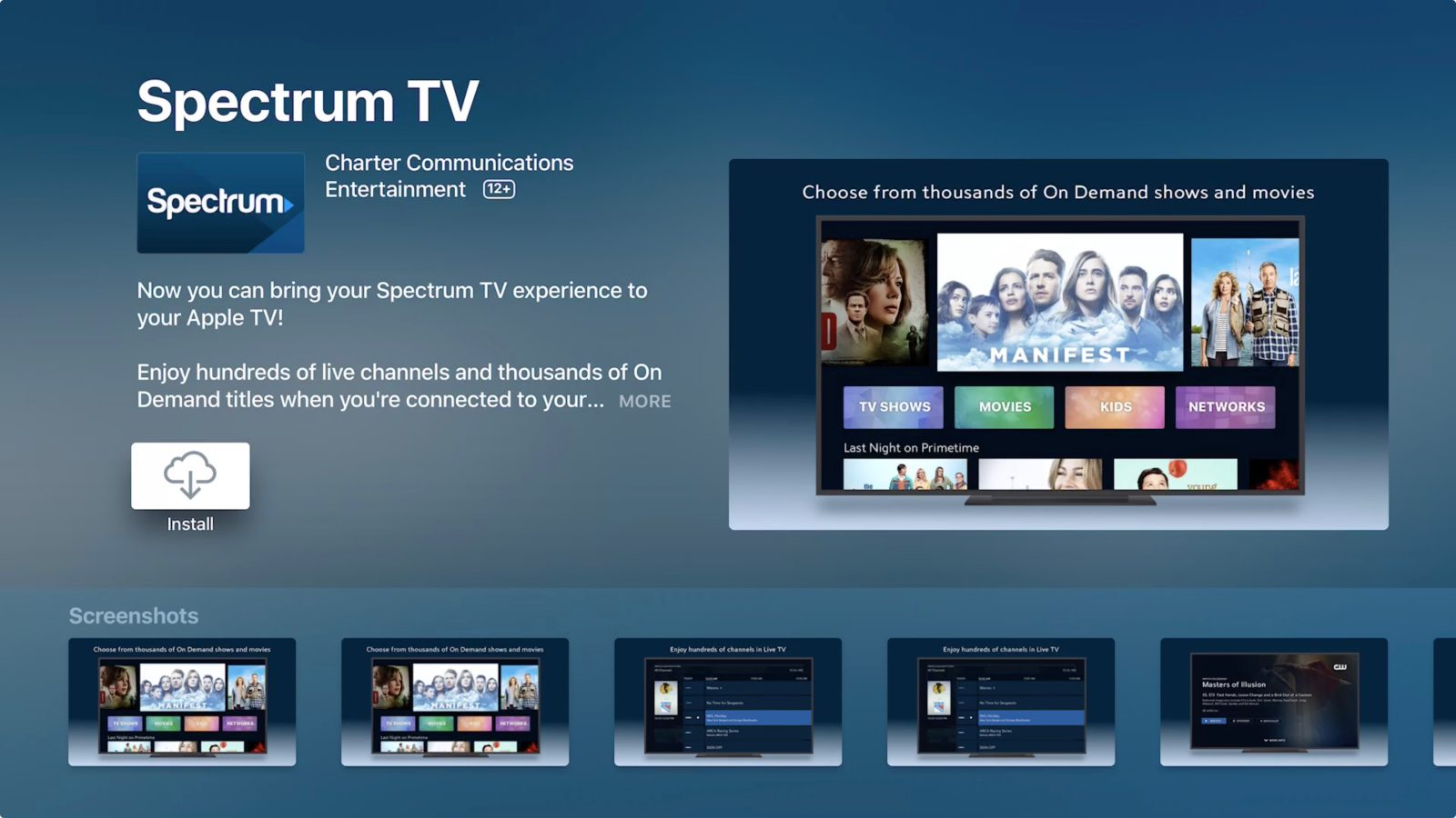 Spectrum TV app for Apple TV released, here's how to use ...