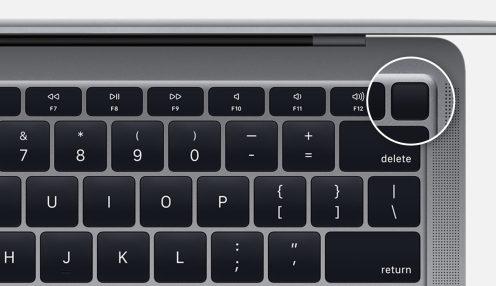 power button MacBook Air