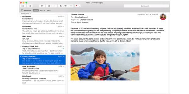 Apple Mail vs G Suite