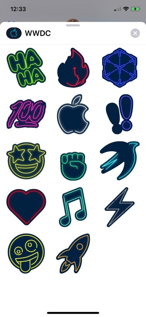 WWDC iOS neon icons
