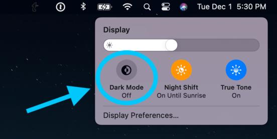 Как использовать Mac Dark Mode, пошаговое руководство 2