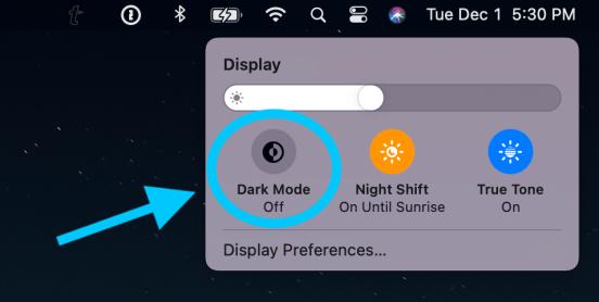 How to use Mac Dark Mode walkthrough 2