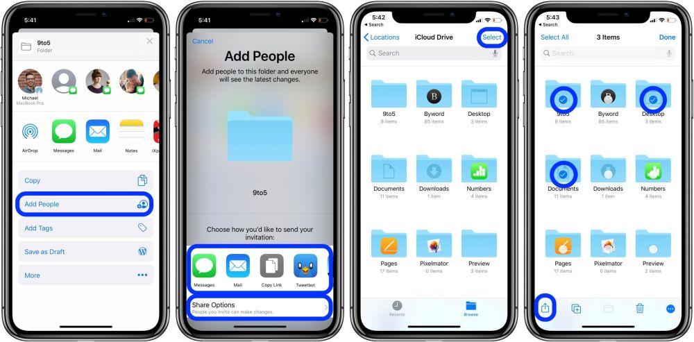 Cách chia sẻ thư mục iCloud Drive iPhone iPad walk 2