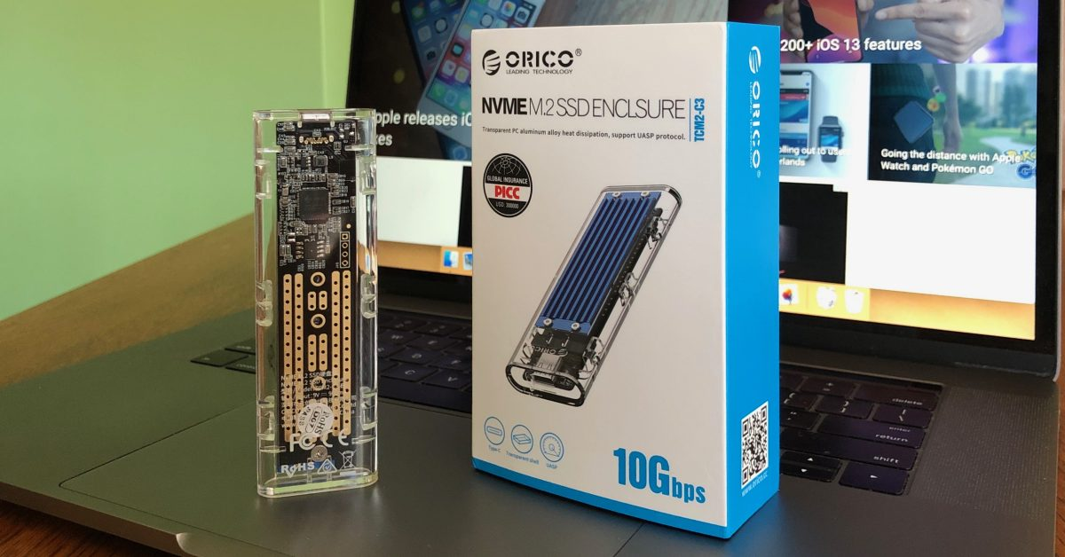 Hands On With A Fun Transparent Usb C Nvme Ssd Enclosure With 10 Gbps Speeds And Tool Less Design 9to5mac