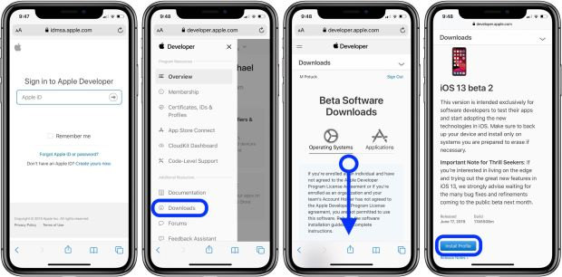 how to update to iOS 13 beta 2 walkthrough 1