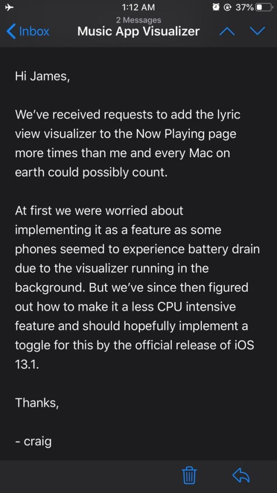 Craig Federighi says scheduled iMessage feature is