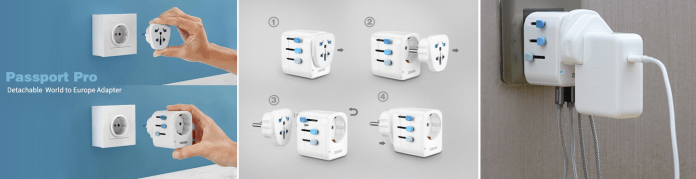 Passport Pro global travel adapter