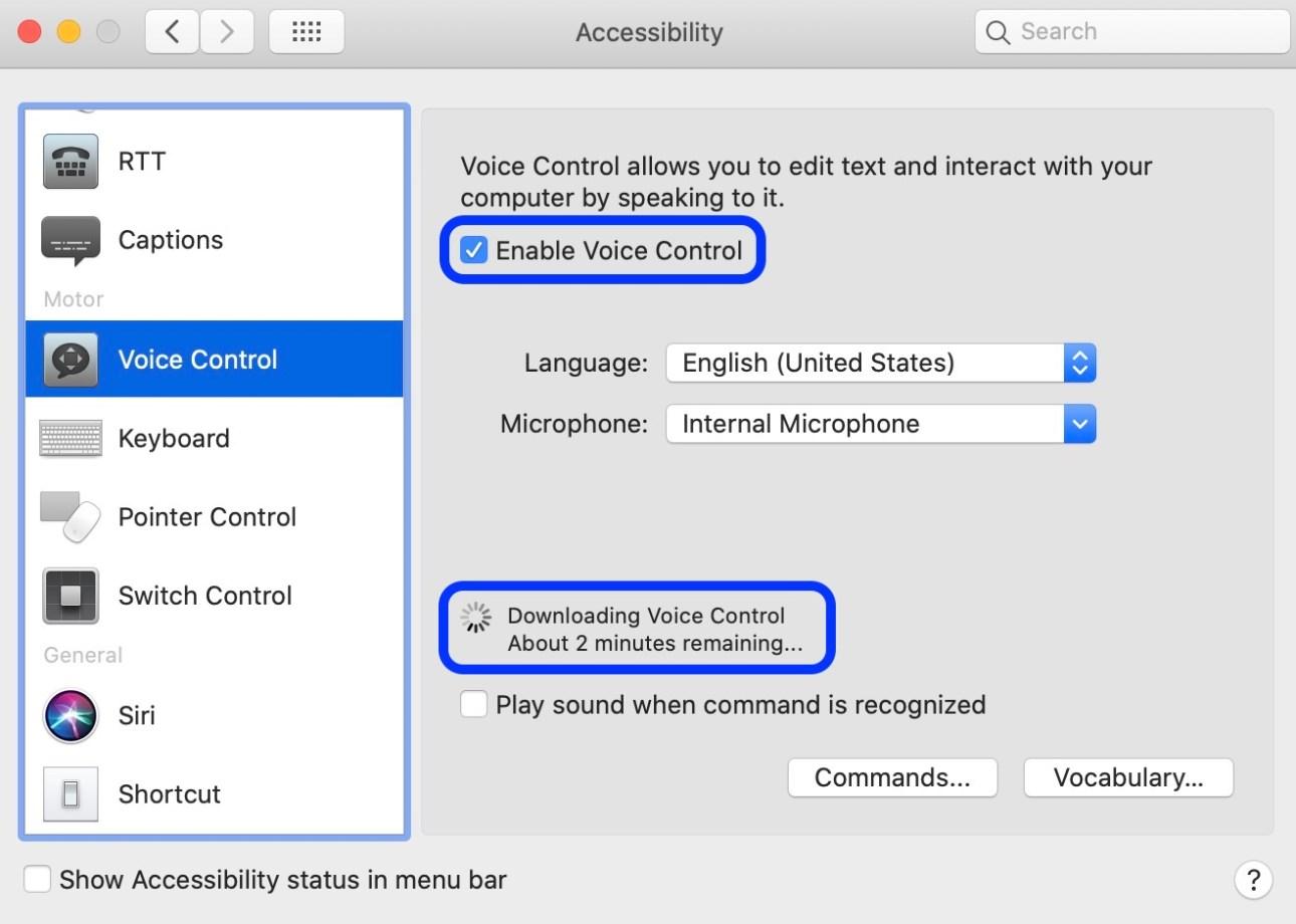 Как начать использовать голосовое управление Mac macOS Catalina walkthrough 2