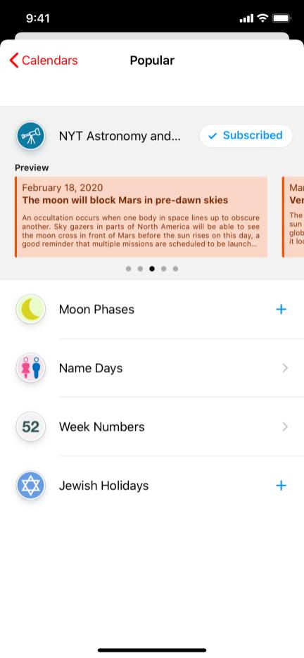 Interesting Calendars
