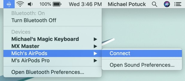 iPhone: How to connect AirPods with MacBook walkthrough 1