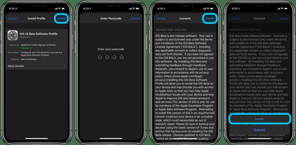 как установить iOS 14 бета iPadOS 14 бета iPhone iPad прохождение 3