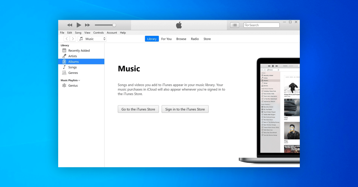 iTunes for Windows crashes when the system language is not English after update