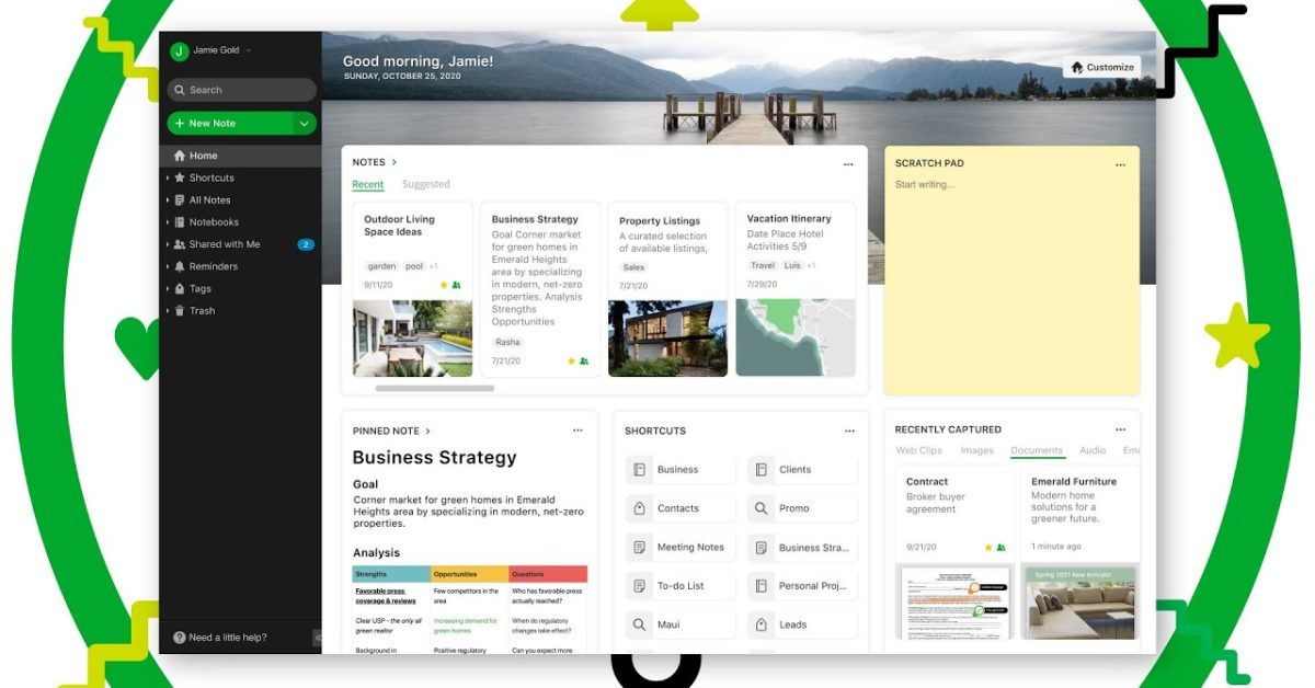 photo of Evernote unveils new 'Home' dashboard with multiple information in one place image