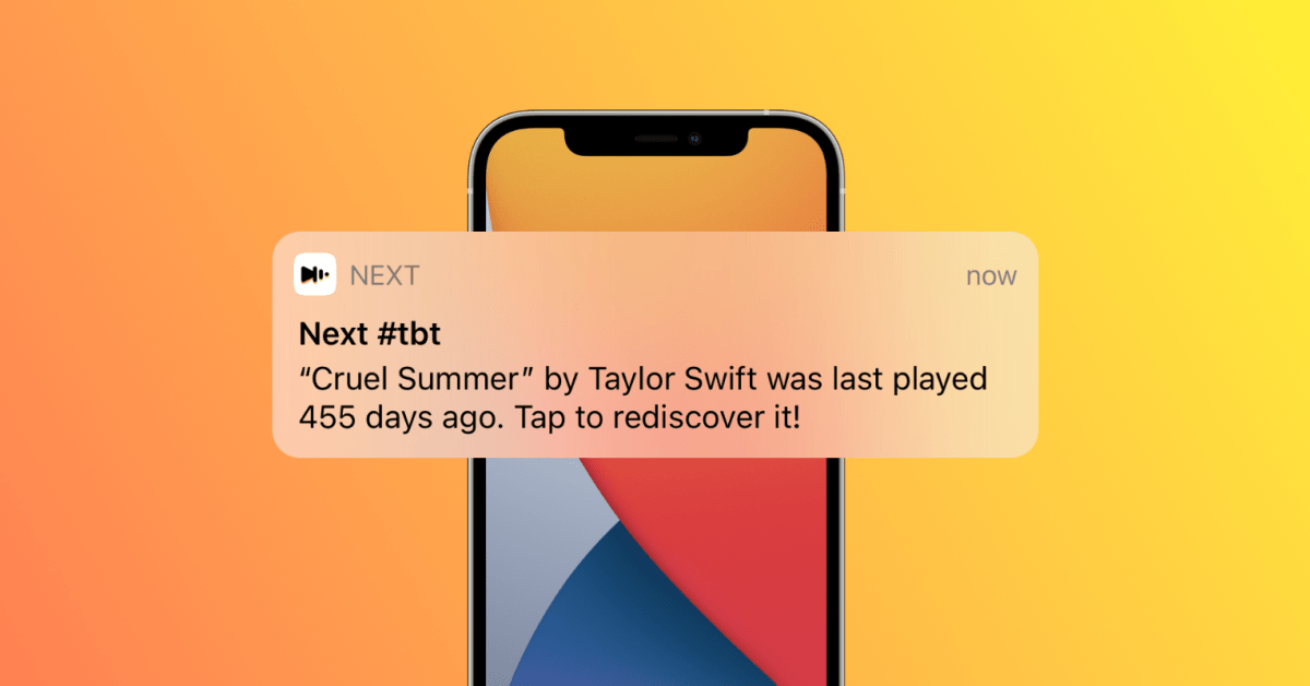 photo of 'Next' music app updated with Throwback Thursday notifications for forgotten songs image