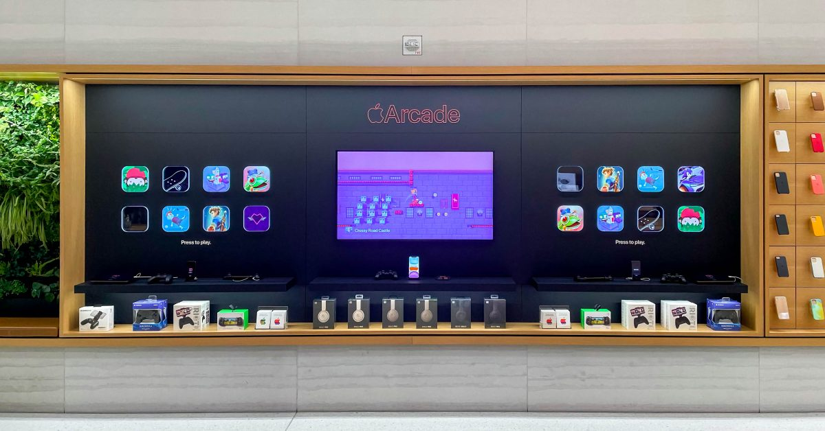 photo of Apple Arcade icons come to life in new Apple Store displays image