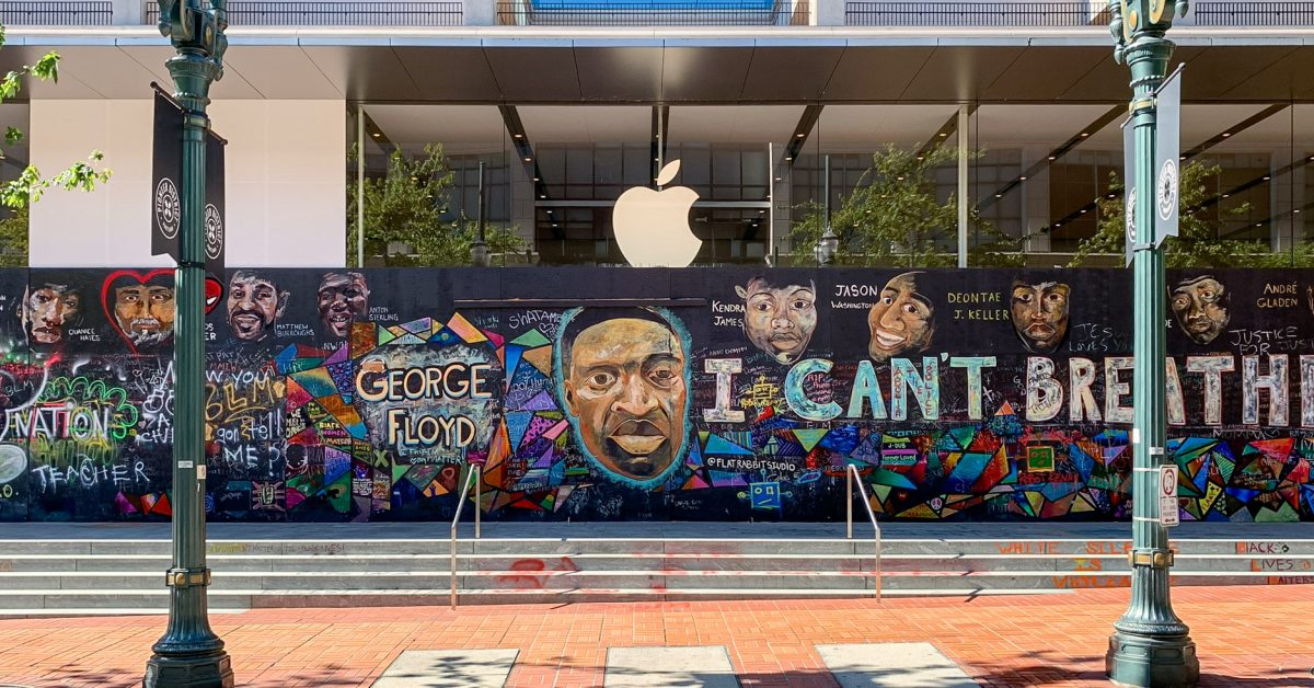 photo of Apple Pioneer Place mural donated to nonprofit Don't Shoot PDX image