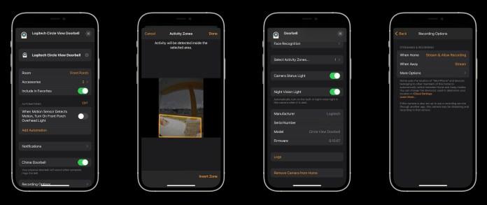 Logitech HomeKit doorbell - settings