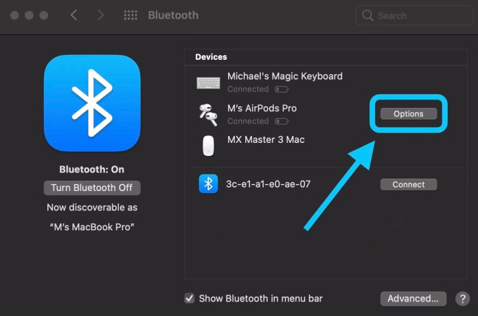 Turn off automatic AirPods switching on Mac walkthrough 1