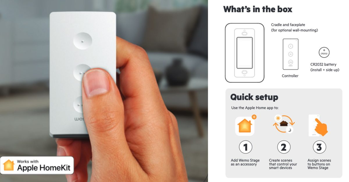 HomeKit remote control 'Wemo Stage' similar to Hue Dimmer - 9to5Mac