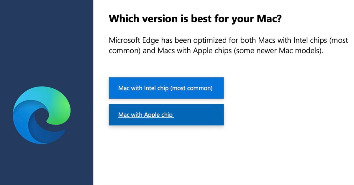 Microsoft Edge browser now optimized for M1 Macs with latest stable release