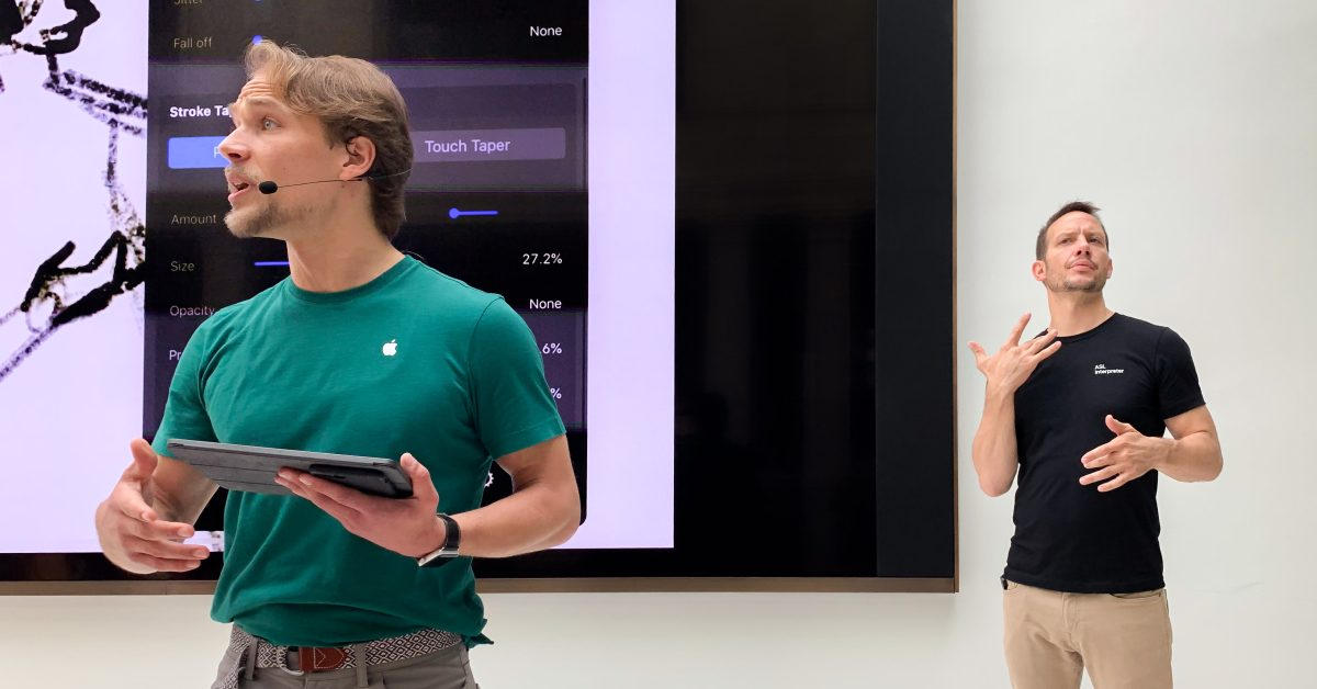 photo of Apple Stores offering free sign language interpreter appointments image