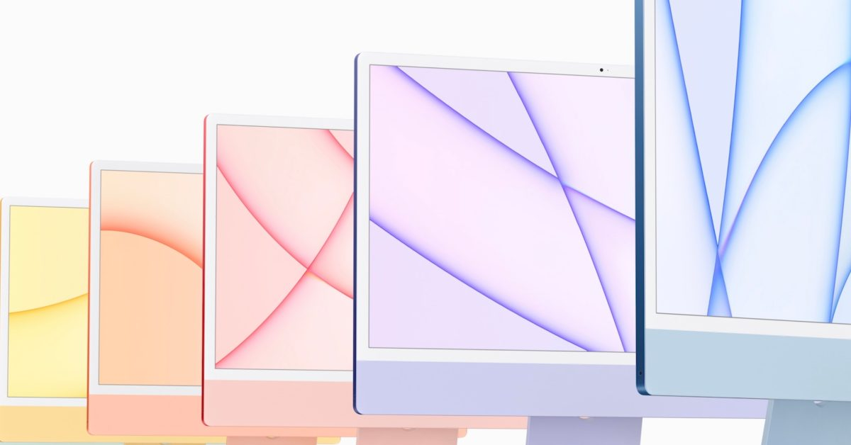 Download the colorful wallpapers of the new redesigned iMac right here