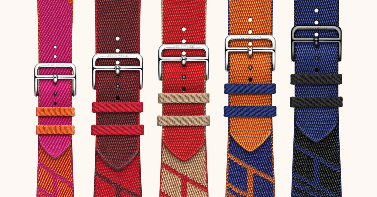 photo of Apple debuts a wide variety of new Apple Watch band colors and designs, including new woven textile Hermès band image