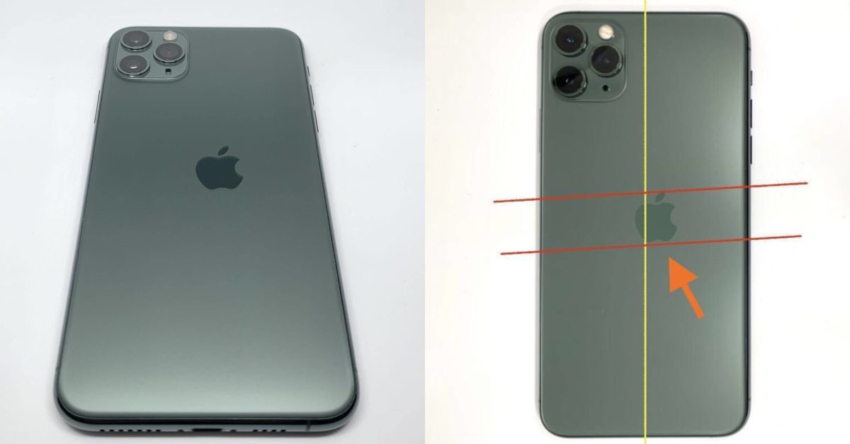 Images show 'extremely rare' iPhone 11 Pro misprint with misaligned Apple logo