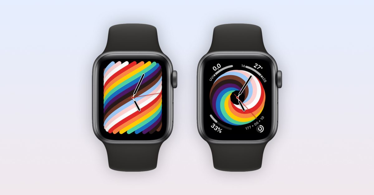 photo of Gallery: Here's a first look at the new 2021 'Pride Woven' Apple Watch face image