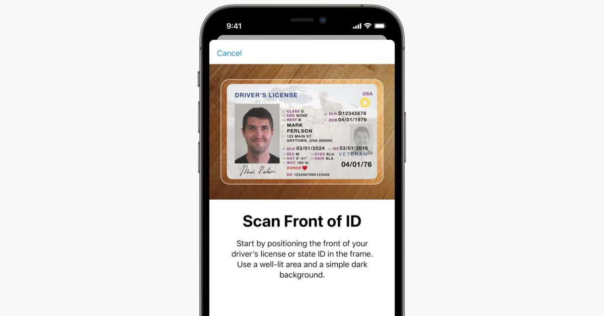 iOS 15: Apple implementing security verification with selfies to validate ID cards in the Wallet app