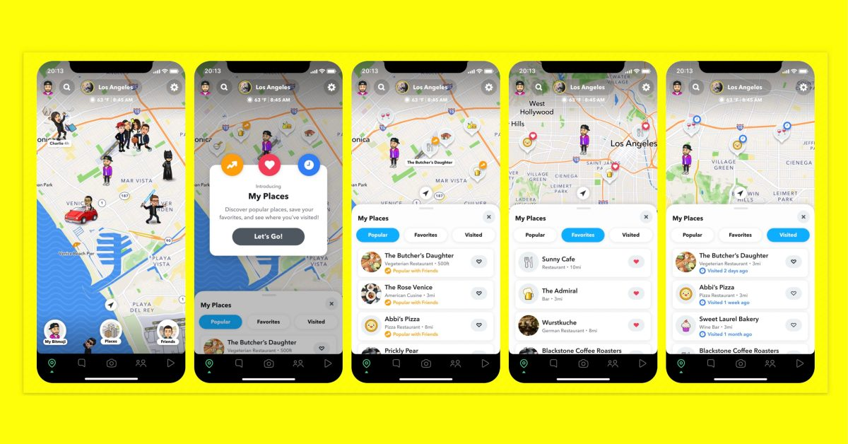 Snapchat for iOS expanding popular Snap Map location-sharing feature with 'Places'