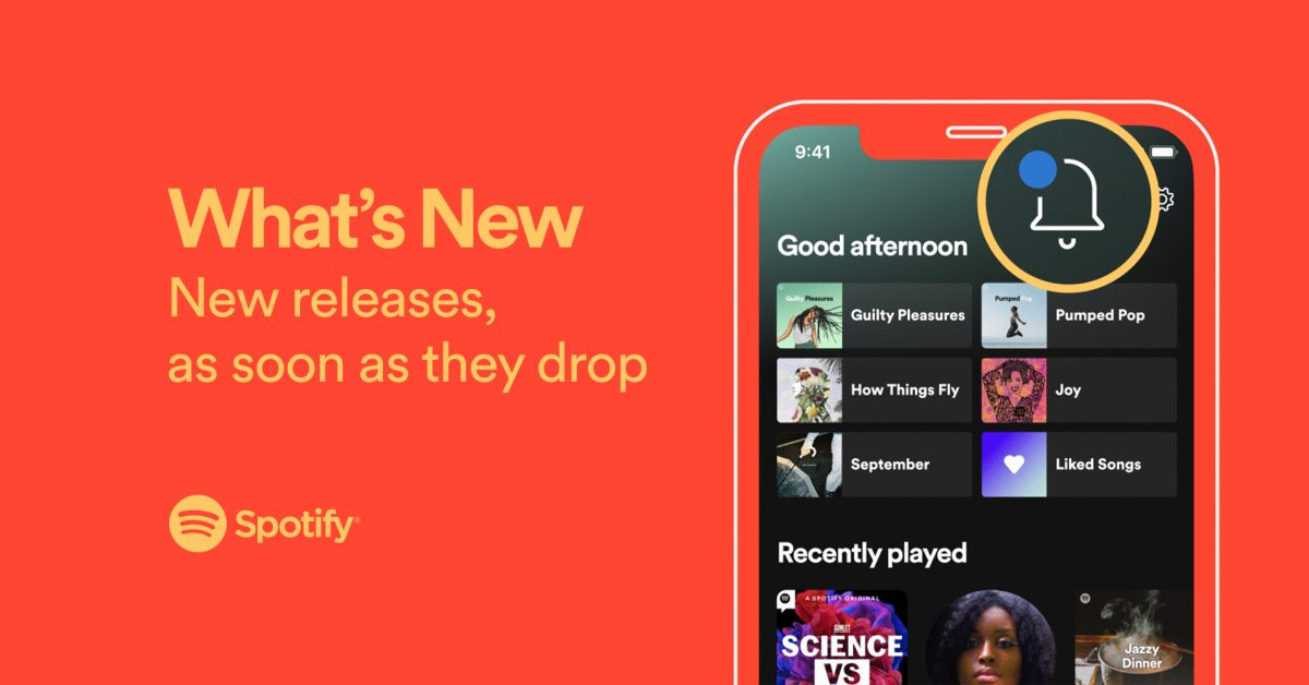 photo of Spotify adds dedicated 'What's New' feed for tracking new music and podcast releases image