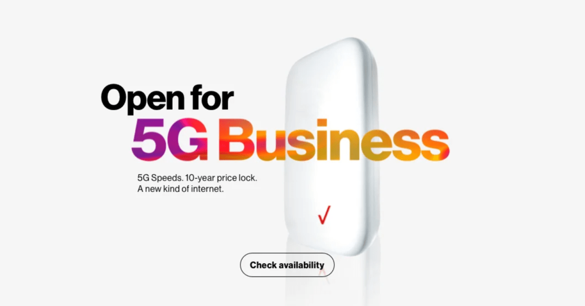 Verizon expands 5G Business Internet, now available in 42 cities with speeds up to 400 Mbps [U: 5 new cities]
