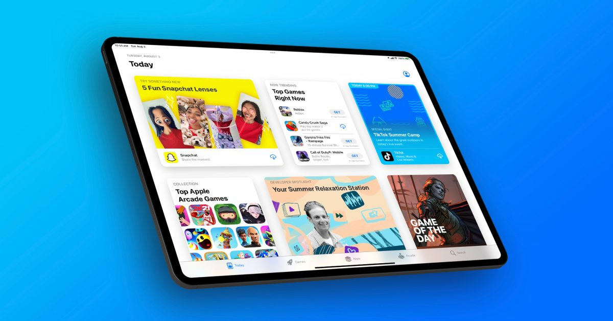 photo of App Store Events begin appearing on iPadOS 15, starting with TikTok image
