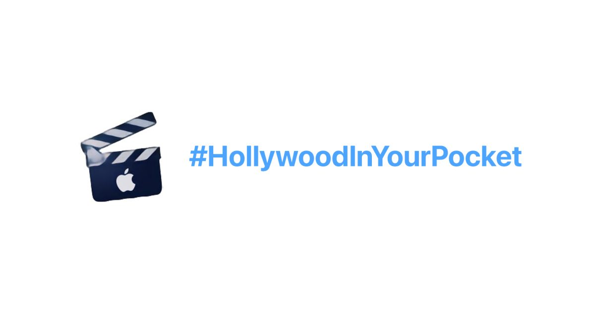 Apple promoting iPhone 13 video capabilities with new #HollywoodInYourPocket hashflag on Twitter