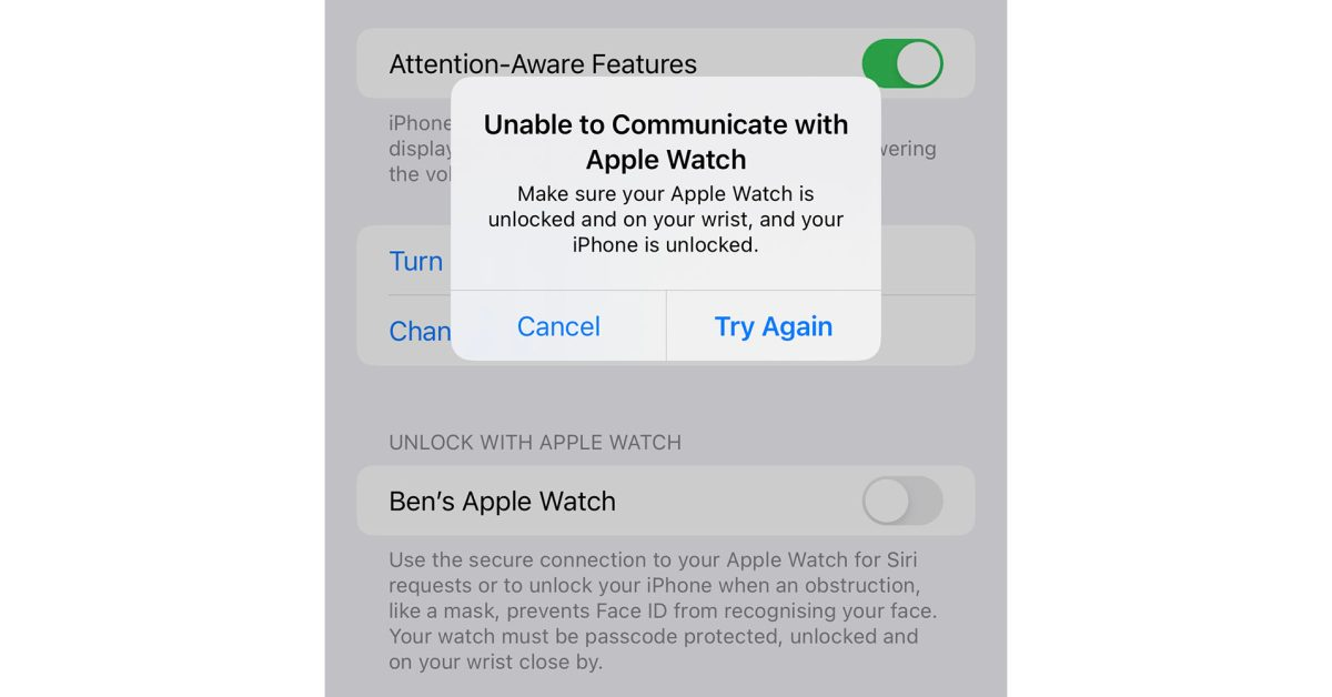 Unlock with Apple Watch not working for some iPhone 13 owners