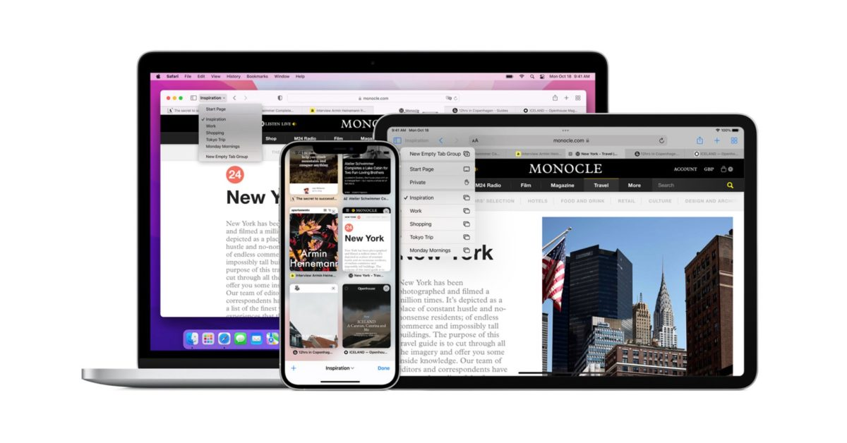 Apple reverts to more traditional Safari tab design in macOS Monterey RC following controversy