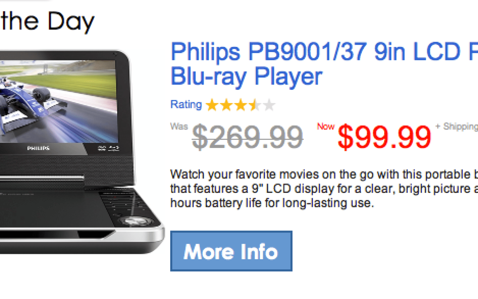 Philips 9in LCD Portable Blu-ray Player $99 - 9to5Toys