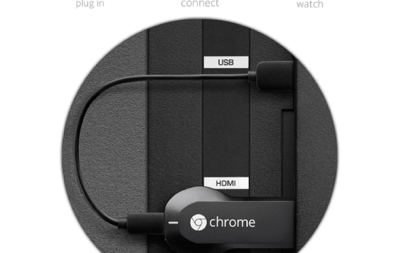 Google Chromecast streaming media player $30 w/ free